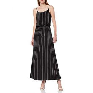 Only NOS Onlwinner SL Maxidress Noos WVN Robe, Multicolore (Black Stripes: Cloud Dancer), 38 (Taille Fabricant: 36) Femme