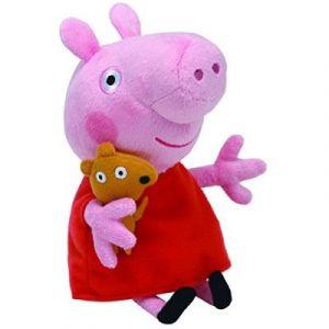 Image de Ty Beanies Peppa Pig Peppa Peluche Douce 15 cm