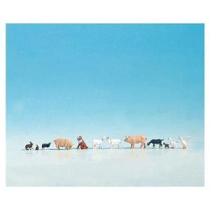 Noch 36711 - Figurines d'animaux à la ferme - Echelle 1:160 (N)