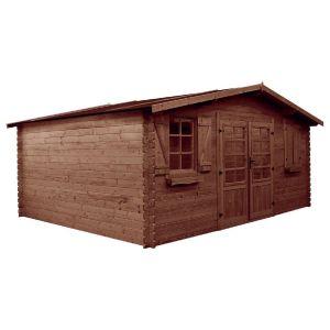 Habitat et Jardin Abri jardin bois traité autoclave - 22.80 m² - 5.26 x 4.32 x 2.46 m - 28 mm