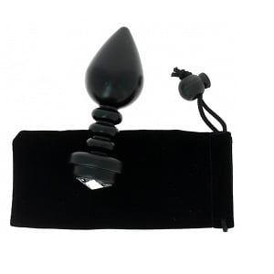 Spoody toys Bijou Anal Strié en Aluminium Taille Medium Noir