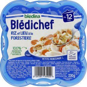 Blédina Bledichef 230g riz et lieu à la forestière dès 12 mois