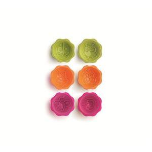 Lékué 6 pièces de moules individuels Kits Garden en silicone