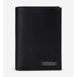 Calvin Klein Wallet Vertical 8cc Smooth Plaque Cuir