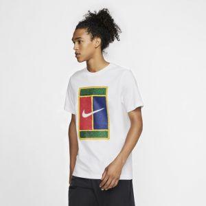 Nike Tee-shirt de tennis Court Homme - Blanc - Taille L - Male