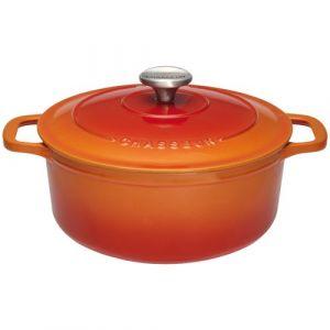 Invicta Chasseur Cocotte ronde en fonte - D : 16cm - orange - Cocotte