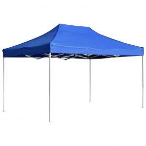 VidaXL Tente de réception pliable Aluminium 4,5x3 m Bleu