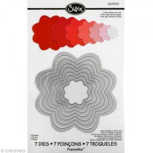 Sizzix 657553 Framelits Pack de 7 Matrices de Découpage Fleurs 25,7 x 15,7 x 0,8 cm