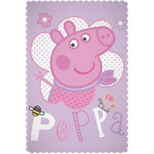 Character World Couverture polaire Peppa Pig Happy (100 x 150 cm)