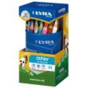 Lyra Pot de 36 Crayons de couleur triangulaire Ferby assorties