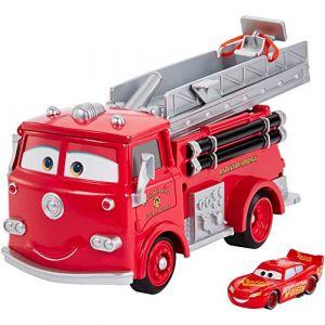 Mattel Camion de pompiers Red Color Changers + véhicule Flash McQueen
