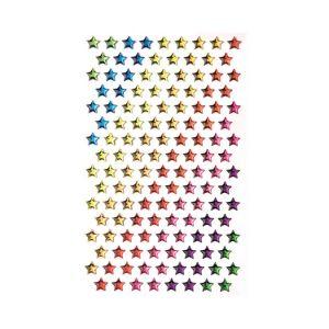 Glorex Etoiles autocollantes x136 - Multicolore - 0,5 x 0,5 cm