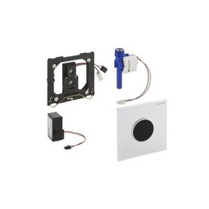 Geberit HyTronic Bouton de commande urinoir infrarouge 230V avec plaque de commande Sigma 10 blanc brillant 116.025.KJ.1