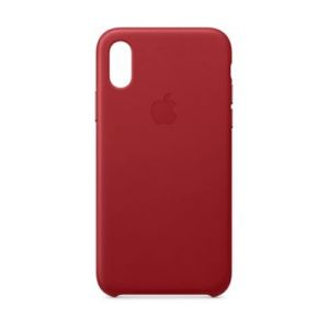 Apple Coque iPhone XS Cuir (PRODUCT) Red
