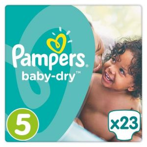 Pampers Baby Dry taille 5 Junior 11-23 kg - 23 couches