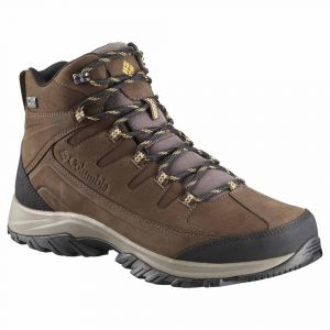 Columbia Homme Chaussures de Randonnée, Imperméable, TERREBONNE II MID OUTDRY, Taille 41.5, Brun (Mud, Curry)