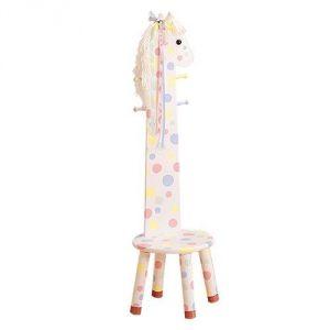 Primary Products Ltd Tabouret poney à haut dossier avec porte manteau