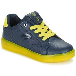 Geox J Kommodor B, Sneakers Basses Garçon, Bleu (Navy/Lime), 39 EU