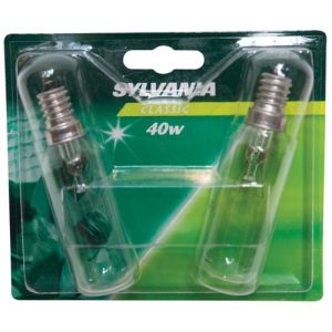 Sylvania Tube à incandescence E14 40 W 25x90mm - clair - Incandescente tube, poirette