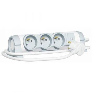 Legrand Rallonge Multiprise Confort Bloc de Prise Rotatif 3X 2P+T Cordon 1,5 Metre 3G1