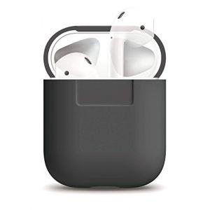 Elago Étui Compatible avec Apple AirPods 1 & 2 (Témoin LED Non Visible) en Silicone Non-Toxique Anti-Rayures Plus de Protection - Gris foncé (, neuf)