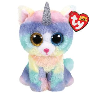 Ty 36250 - Beanie Boo's - Heather Le Chat Licorne 15 cm