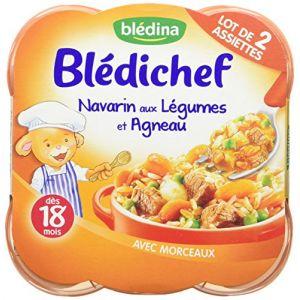 Blédina Blédichef 8 assiettes Navarin aux légumes et Agneau dès 18 mois