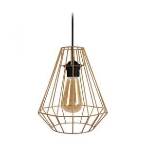 DIAMOND Suspension filaire en métal Ø 20 x H 80 cm Laiton Ampoule LED comprise E27 40W
