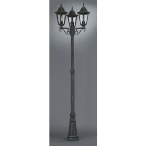 Massive 150255410 - Lampadaire de jardin 3 têtes Zagreb aspect fer forgé 100 W