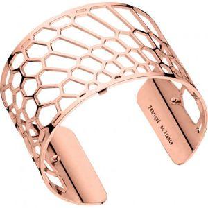 Les Georgettes Bracelet Nid d'abeille Or rose Large