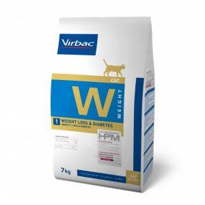 Virbac Vet Hpm Diet pour chat W1 Weight Loss & Diabetes 7 kg