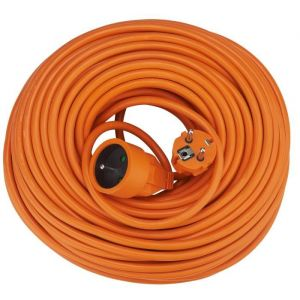 Debflex Rallonge 40 m 16 A orange - Longueur de câble : 40 m - Section de câble : 1,5 mm² - Intensité : 16 A - Coloris : orange.