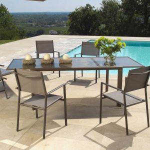 Proloisirs Table de jardin rectangulaire Messina en aluminium et ...