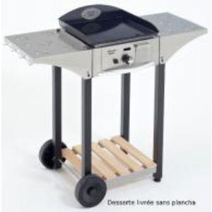 Roller Grill CHPS400 - Desserte en inox et bois pour plancha 400