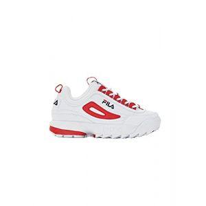 FILA Chaussures de Tennis pour Femme Disruptor CB Low WMN en Cuir Blanc 1010604-02A
