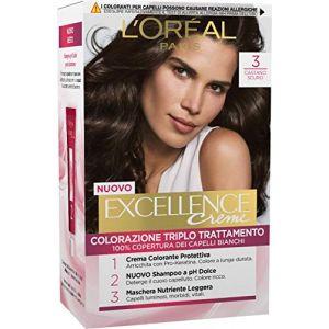 L'Oréal Excellence - Crema Colorante Triplo Trattamento Avanzato - 3 Castano Scuro