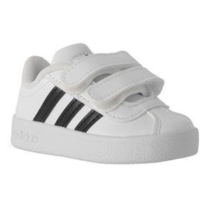 Adidas VL Court 2.0 CMF I - Chaussures de Tennis - Mixte Enfant - Blanc (Ftwbla/Negbas/Ftwbla) - FR: 19