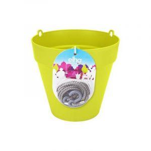 Loft URBAN Pot de fleur à suspendre - Ø20 cm - Lime vert - Réservoir d'eau - Balustrades jusqu'à 6 cm de large - Charge maximale 4 kg - Recyclables - Résistant au gel