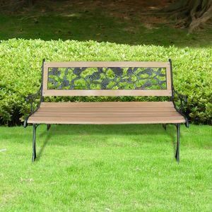 VidaXL 40261 - Banc de jardin à motif floral 122 cm