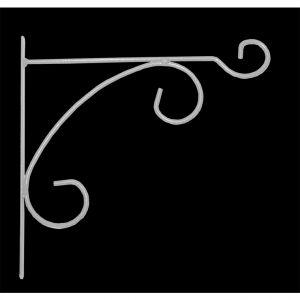 LG Potence en fer rond blanc 32 cm