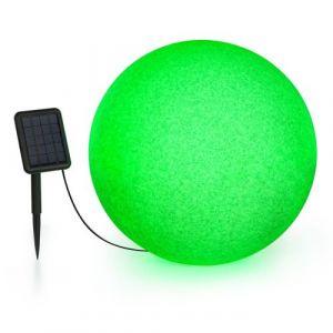 Blumfeldt Shinestone Solar 50 - Lampe Ø 50cm pour jardin & terrasse - Panneau solaire - 16 couleurs - Batterie lithium-ion