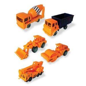 John World Coffret de 5 véhicules de chantier