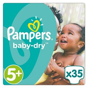 Image de Pampers Baby Dry taille 5+ (13-25 kg) - 35 couches