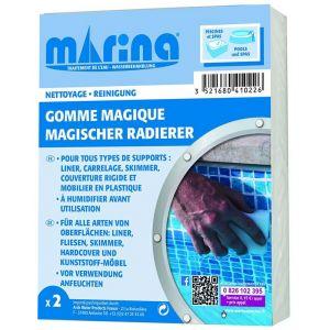 Marina Lot de 2 éponges magiques pour ligne d'eau