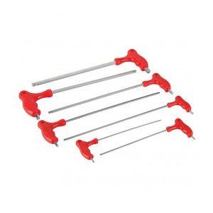Silverline 380799 - Jeu de 7 clés mâles longues 2,5 - 10 mm