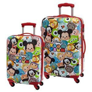 Set 2 trolleys Tsum Tsum 55 et 68 cm