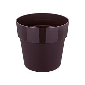 Elho pot de fleurs - b.for rond mini 13cm mûre voil - 12.8 x 12.8 x 11.7 cm