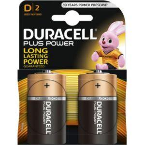 Duracell Plus Power LR20 blister de 2 piles 1,5V