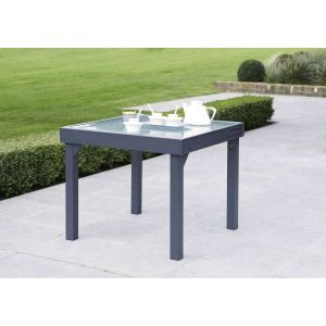 Wilsa Modulo - Table de jardin 4/8 personnes 90/180 x 90 x 75 cm