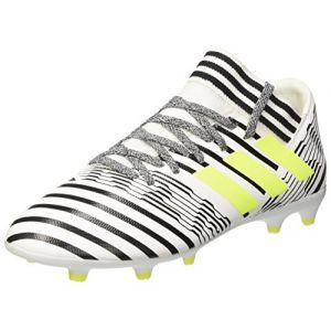 Adidas Nemeziz 17.3 FG, Chaussures de Football Entrainement Mixte Enfant, Blanc (Footwear White/Solar Yellow/Core Black), 35 EU